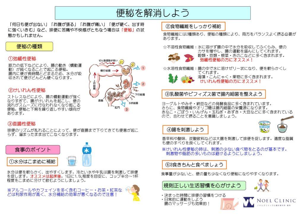 食物繊維/食事相談/弛緩性便秘/けいれん性便秘